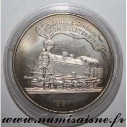 LIECHTENSTEIN - X 35 - 5 EURO 1997 - 125 years of the railway