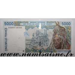 MALI - P 413 DK - 5.000 FRANCS 2003 D - WEST AFRICAN STATES