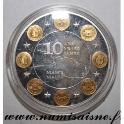 MALTA - MEDAL - 10 YEARS OF EURO