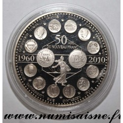 FRANCE - MEDAL - EUROPE OF THE XXVII - 50 YEARS OF THE NEW FRANC - 1960 - 2010