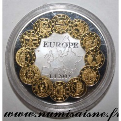 FRANCE - MEDAL - TRANSITION TO THE EURO - 01.01.2002