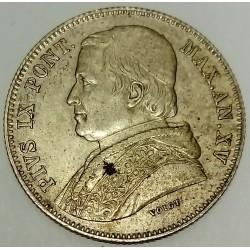 ITALY - PONTIFICAL STATES - KM 1360 - 20 BAIOCCHI 1860 - PIE IX