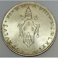 VATICAN - KM 123 - 500 LIRES 1970 - VIII - PAUL VI