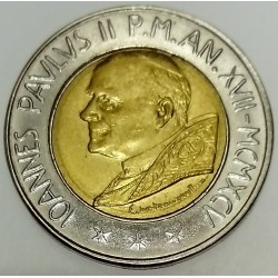 VATICAN - KM 267 - 500 LIRES 1995 - JEAN PAUL II