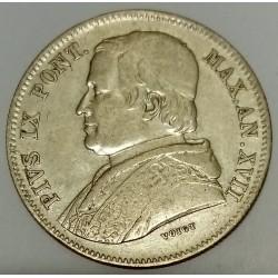 ITALY - PONTIFICAL STATES - KM 1360 - 20 BAIOCCHI 1863 - PIE IX