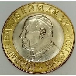 VATICAN - KM 299 - 1,000 LIRA 1998 - JOHN PAUL II