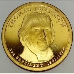 UNITED STATES - KM 403 - 1 DOLLAR 2007 - THOMAS JEFFERSON