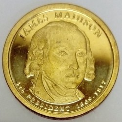 UNITED STATES - KM 404 - 1 DOLLAR 2007 - JAMES MADISON - 4TH PRESIDENT 1809-1817