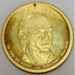 UNITED STATES - KM 452 - 1 DOLLAR 2009 - JAMES K.POLK - 11TH PRESIDENT 1845-1849