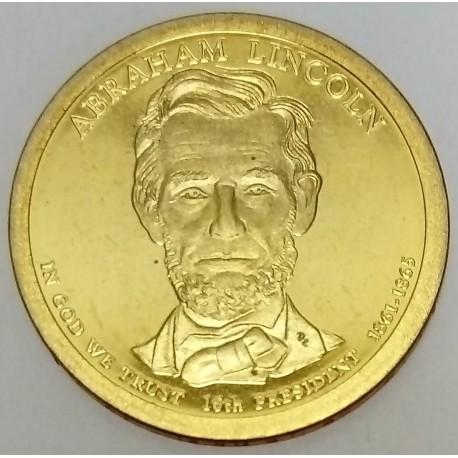 UNITED STATES - KM 428 - 1 DOLLAR 2010 - ABRAHAM LINCOLN - 16TH PRESIDENT 1861-1865