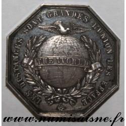 FRANCE - JETONS - CERCLE DES DEUX MONDE 1854