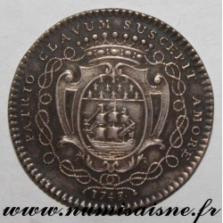 FRANCE - TOKEN - MAYORS OF NANTES - 1743