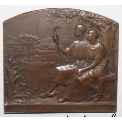 MEDAL - WEDDING - IMMUTABILIS AMOR - 1862 - 1912 - By René Baudichon