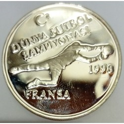 TURKEY - KM 1063 - 2500.000 LIRA 1998 - WORLD CUP SOCCER