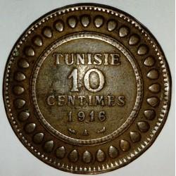 TUNISIA - KM 236 - 10 CENTIMES 1916 A