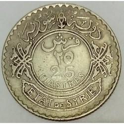 SYRIA - KM 73 - 25 PIASTRES 1937