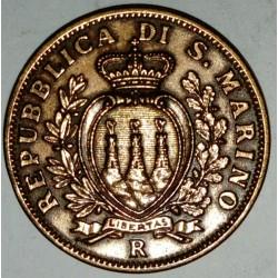 SAN MARINO - KM 13 - 10 CENTESIMI 1938 R