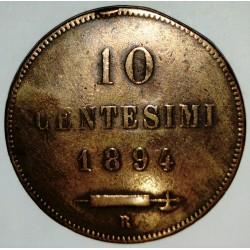 SAN MARINO - KM 2 - 10 CENTESIMI 1894 R