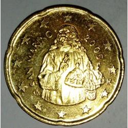 SAINT-MARIN - KM 444 - 20 EURO CENT 2005