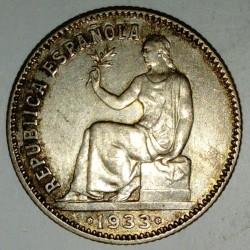 SPAIN - KM 750 - 1 PESETA 1933