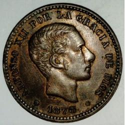 SPAIN - KM 674 - 5 CENTIMOS 1878 - ALPHONSE XII