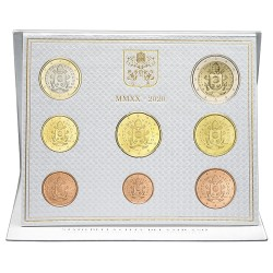 VATICAN - UNIVERSAL BRILLIANT EURO 2020 BOX - 8 COINS (3.88 euros)