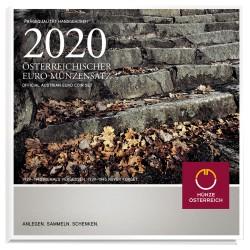 AUSTRIA - BRILLIANT UNCIRCULATED EURO COIN SET 2020 - 8 COINS