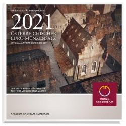 AUSTRIA - BRILLIANT UNCIRCULATED EURO COIN SET 2021 - 8 COINS