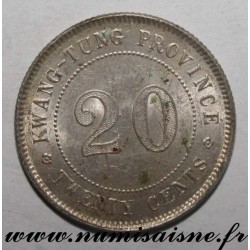CHINA - Y 423 - 20 CENTS 1920 - Yr 9 - KWANTUNG PROVINCE (GUANGDONG)