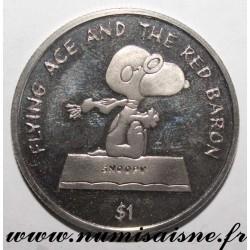 NIUE - KM 123 - 1 DOLLAR 2001 - SNOOPY