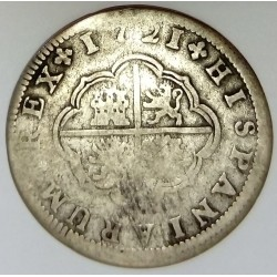 SPAIN - KM 297 - 2 REALES 1721 F - PHILIPPE V