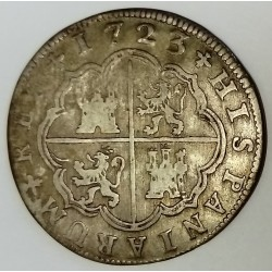 SPAIN - KM 296 - 2 REALES 1723 - PHILIPPE V