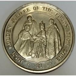 SIERRA LEONE - KM 282 - 1 DOLLAR 2003 - GOLDEN JUBILEE