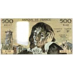 PICK 156 - 500 FRANCS PASCAL - 06/01/1983 - N.183