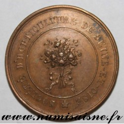 MEDAL - AGRICULTURE - SEINE AND OISE HORTICULTURAL SOCIETY - VERSAILLES - APRIL 7, 1840