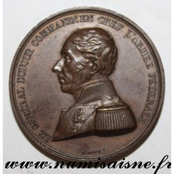 MEDAL - SWITZERLAND - GENERAL DUFOUR COMMANDING IN CHIEF THE FEDERAL ARMY - 1847
