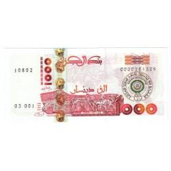 ALGERIE - PICK 142 - 1000 DINARS SURCHARGÉ - 22.03.2005 - NEUF