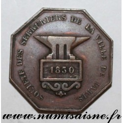 MEDAL - SOCIETY OF LOCKSMITH OF THE CITY OF PARIS - 1830
