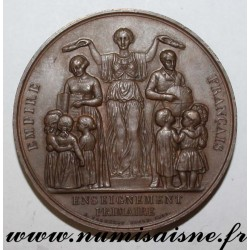 MEDAL - EDUCATION - PRIMARY EDUCATION - Mr BROCARO AT CHALONS SUR SAUNE - 1860 - 1861