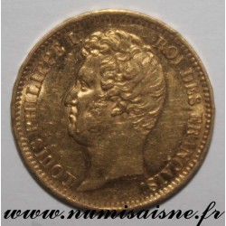 FRANCE - KM 746 - 20 FRANCS 1831 A - Paris - GOLD - LOUIS PHILIPPE I - Edge with Relief lettering