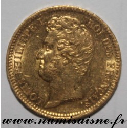 FRANCE - KM 746 - 20 FRANCS 1831 A - Paris - GOLD - LOUIS PHILIPPE I - Edge with Recessed lettering