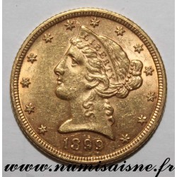 UNITED STATES - KM 101 - 5 DOLLARS 1899 - Philadelphia - LIBERTY - GOLD