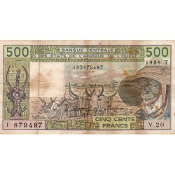 WEST AFRICAN STATES - TOGO - PICK 806T.K - 500 FRANCS 1989 - SIGN 21 - B C E A O