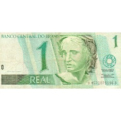 BRAZIL - PICK 243 A.b - 1 REAL - NO DATE (1998) - SIGN 38
