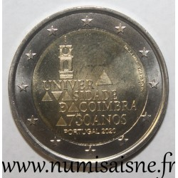 PORTUGAL - 2 EURO 2020 - 730 YEARS OF THE FOUNDING OF THE UNIVERSITY OF COIMBRA
