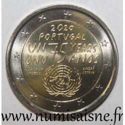 PORTUGAL - 2 EURO 2020 - UNITED NATIONS - 75th ANNIVERSARY