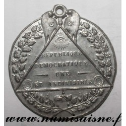 MEDAL - POLITICS - DEMOCRATIC REPUBLIC - ONE AND INDIVISIBLE - 1848