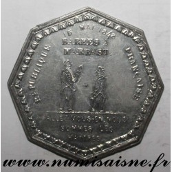 MEDAL - POLITICS - BARBES ET MARRAST - GO AWAY, WE ARE THE MASTERS - 1848