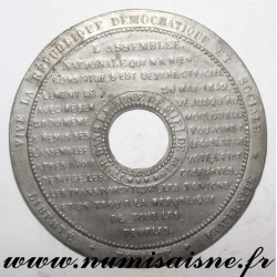 MEDAL - POLITICS - OPENING OF THE LEGISLATIVE - 1848