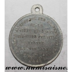 MEDAL - POLITICS - 75 - PARIS - COMPLETE TRIUMPH AGAINST TYRANNY - 1848